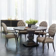 bernhardt antiquarian round dining table arm chairs and