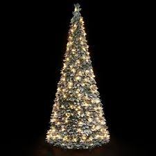 1 8m pop up decorated slim silver tree with lights ebay