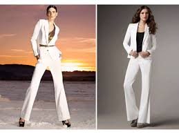 fashion trends wide leg white dress pants for women with