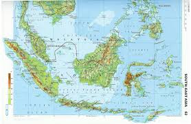 Topographical Map Of South America by Large Detailed Topographical Map Of Malaysia Malaysia Large