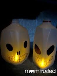 Halloween Decorations Using Milk Jugs - glow in the dark frankenstein milk jug milk jugs milk jug