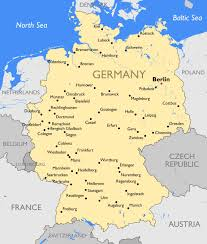 map of germany map germany