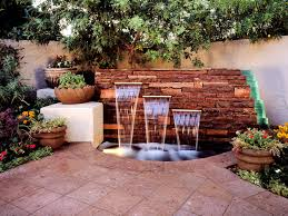 small patio designs back yard water features wall waterfalls