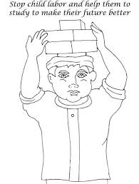 coloring page child labor sketch coloring page