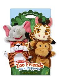 amazon com melissa u0026 doug zoo friends hand puppets set of 4