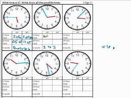 time worksheets for calculating time difference reading time 24