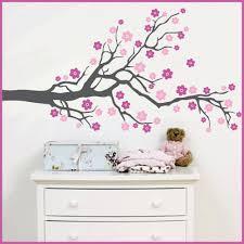 3 color custom big size cherry blossom tree flowers vinyl wall