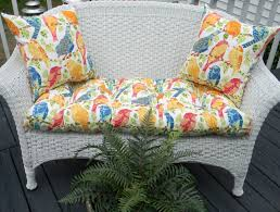 Settee Cushion Set by Indoor Outdoor Cushion 3 Pc Set For Wicker Loveseat Bench