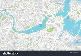 Boston Road Map by Urban City Map Boston Usa Stock Vector 541340794 Shutterstock