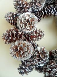 crafty sisters glittered pinecone wreath projects to try