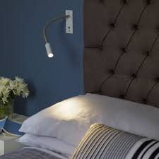 Bedroom Wall Reading Lights Uk Astro Leo Led Reading Wall Light In Bronze Fitting Type From