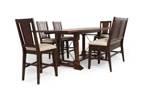 Broyhill Dining Chairs Broyhill Attic Rustic Oak Six Piece Pub Set Mathis Brothers