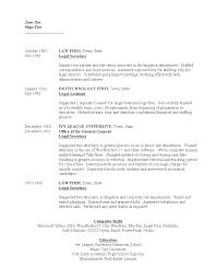 Sample Legal Assistant Resume by Legal Secretary Resume Template