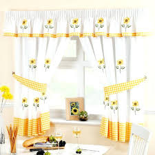 Blue And Yellow Kitchen Curtains Decorating Yellow And Blue Kitchen Curtains Yellow Window Valance Blue And