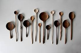 beautiful hand carved wooden spoons babble