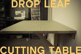 Wall Mounted Drop Leaf Folding Table Tutorial Diy Wall Mounted Drop Leaf Cutting Table Sewing