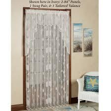 seashells lace window treatment