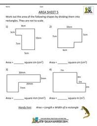 area worksheet 3rd grade geometry worksheet to find the area of