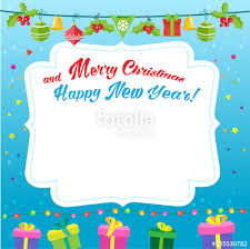 invitation card cartoon design new year background design vector cartoon illustration new year