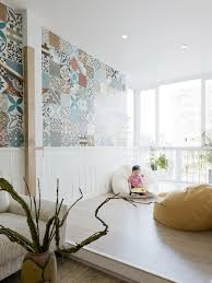 wall tiles for living room elegant apartment in hanoi featuring colorful wall tiles homesfeed