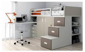 lit superpose bureau lit mezzanine avec armoire des tiroirs et un bureau acheter