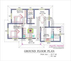 green home designs floor plans nano home plan and elevation in 991 square kerala home