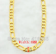 necklace gold man images Gk3 top quality 24k gold man jewelry necklace cool three interval jpg