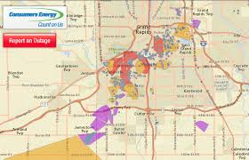 tornado map power outage map shows path of tornado mlive