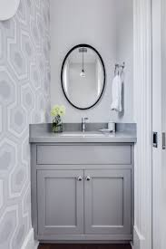 Powder Room Mississauga - half bath designs powder room transitional with geometric