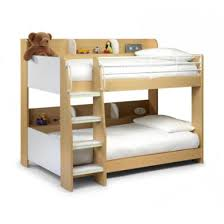 Julian Bowen Domino Bunk Beds In Maple And White Furniture - White bunk beds uk