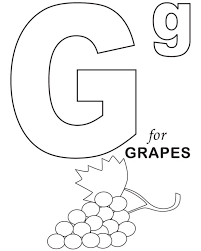 grapes fruit coloring pages alphabet alphabet coloring pages of