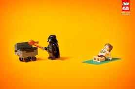 creative ads story lego star wars print ads