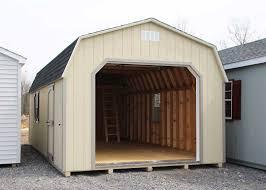 custom single car garages mini barns storage sheds garages