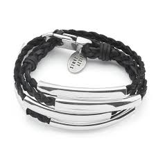 bracelet silver leather images Mini addison braided wrap in silverplate lizzy james jpg