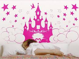 Beautiful Wall Stickers For Room Interior Design Aliexpress Com Buy 2017 Sale Stickers Princess Castle Wall