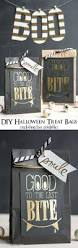 diy halloween treat bags with free printable