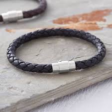 leather bracelet wristband images Men 39 s plaited leather bracelet by hurleyburley man jpg