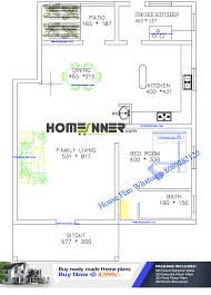 Free Home Plan Free 1200 Sq Ft Single Bedroom House Plan