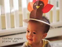 turkey paper plate hat pink stripey socks