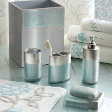 Teal Bathroom Decor by Purple And Grey Bathroom Sets