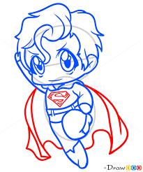 draw superman chibi