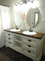 bathroom cabinets with sink dresser turned into double sink vanity