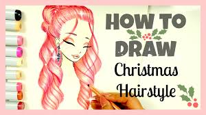 how to draw and color christmas hairstyle xmas series youtube