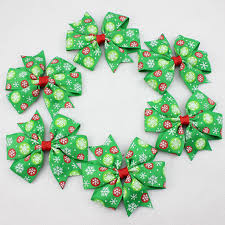 christmas hair bows 3 1 inch ribbon christmas hair bows for girl and woman hair