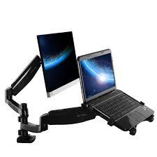 Monitor Stands For Desks Loctek Store Loctek Dual Arm Monitor U0026 Laptop Mount D5dl
