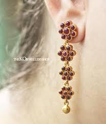 kempu earrings the alpa silver kempu earrings buy authentic temple jewellery