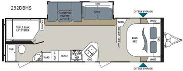 triple bunk travel trailer floor plans new 2017 dutchmen rv aerolite 282dbhs travel trailer at blue dog rv