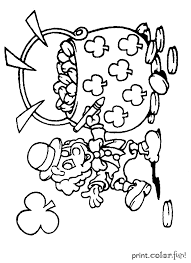 leprechaun with a pot o u0027 gold coloring page print color fun