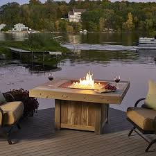 Gas Firepit Table Vintage Gas Pit Table Woodlanddirect Outdoor