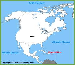 Puerto Rico Blank Map by Map Of Usa And Puerto Rico Map Of Usa World